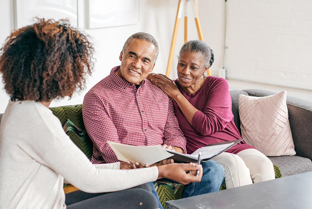 Couple getting Estate Planning advice from an advisor