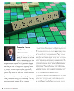 Financial Fitness March 2019